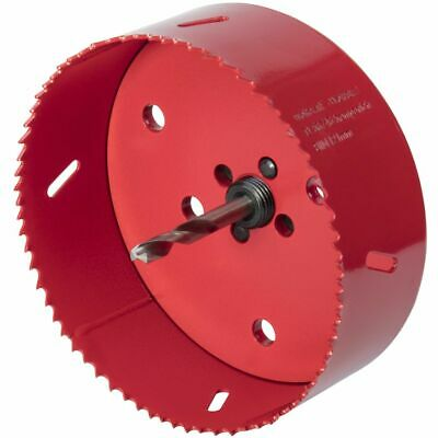 wolfcraft Hole Saw 152mm Bi-Metal Red Drill Accessory Cutter Tool 5498000