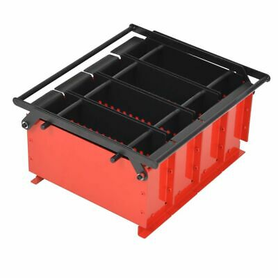 vidaXL Paper Log Briquette Maker Steel 38x31x18cm Black and Red Fireplace Tool