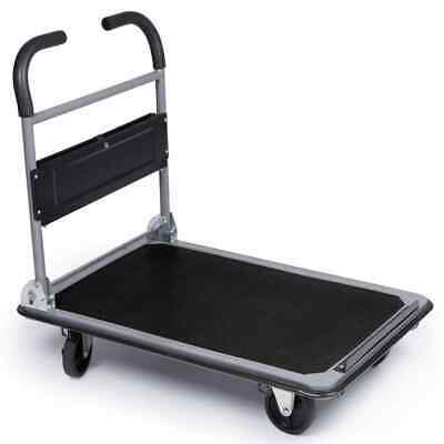 Toolland Folding Hand Truck Metal 300kg Carrier Trolley Handcart Dolly QT125