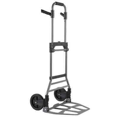 Toolland Folding Hand Truck Aluminium 120kg Carrier Trolley Cart Dolly QT126