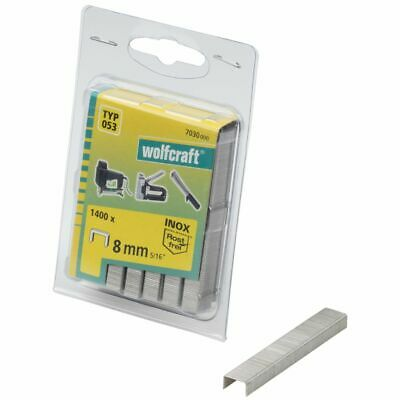 wolfcraft 1400x Broad Back Staples Type 053 8mm Industrial Needles 7030000