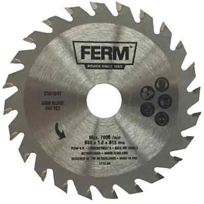 FERM Precision Saw Blade 24T TCT 85mm Tungsten-carbide Tipped Tool CSA1047