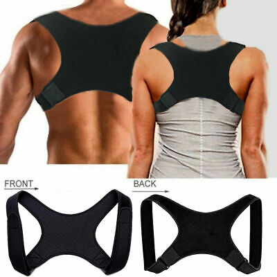 Posture Corrector BAD Back Shoulder Lumbar Body Support Brace Belt Vest Unisex