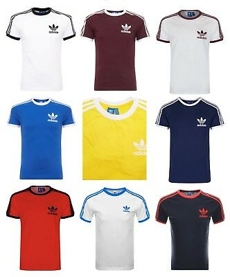 Adidas Originals Mens California Retro Trefoil Crew Neck Short Sleeve T-Shirt