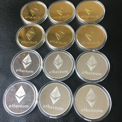 Ethereum Eth Crytocurrency Virtual Currency Souvenir Gift (12 Pieces)