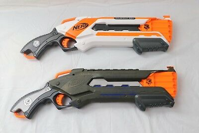 Lot of 2 Nerf N-Strike Elite RoughCut 2x4 Blaster Shotgun