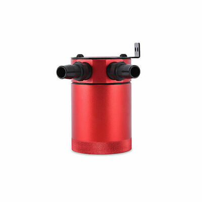 Mishimoto Oil Catch Can Öl Auffangbehälter Baffled gefiltert 2-Port Red