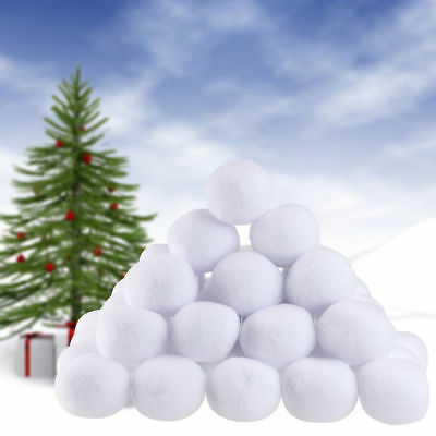 Indoor Snowball Fight Game Soft Plush Realistic Snow Balls 10/50 pcs