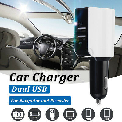 Dual USB Car Charger Adapter LED Display Fast Charging for iPhone Android IOS