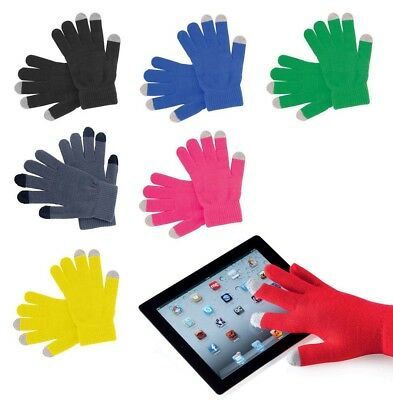 Touch Screen Gloves Adults Knitted 3 Finger iPhone Tablet Non Slip Thermal Glove