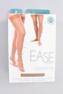 Ease By Therafirm Opaque Thigh Highs OT Unisex X-Large Short Sand Compression