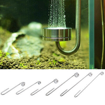 Ultra-thin Stainless Steel Aquarium CO2 Diffuser Planted Fish Tank Maintenance Z