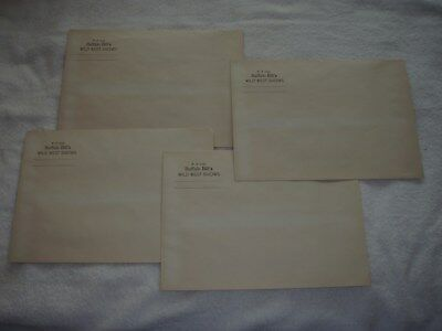 Vintage W.F. Cody Buffalo Bill Wild West Show Flyer Envelope Mailer  Lot of 4
