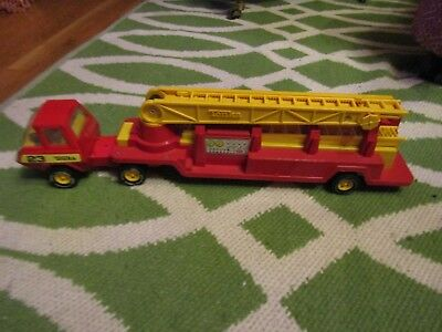 "Vintage Tonka #23 Hook & Ladder Fire Truck 23"" 1970s with all 4 Ladders"