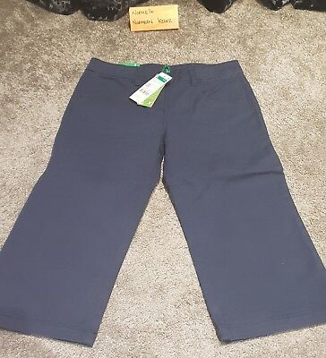 Benetton Boys Trousers Blue Large 8-9 Years