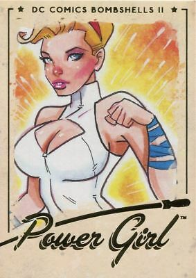DC Comics Bombshells 2 Gold Deco Base Card #14 Power Girl