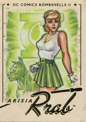 DC Comics Bombshells 2 Gold Deco Base Card #49 Arisia Rrab