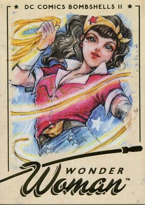 DC Comics Bombshells 2 Gold Deco Base Card #01 Wonder Woman