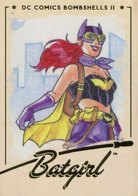 DC Comics Bombshells 2 Gold Deco Base Card #59 Batgirl