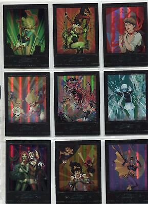 DC Comics Bombshells 2 Complete Rainbow New Covers Chase Card Set C1-9