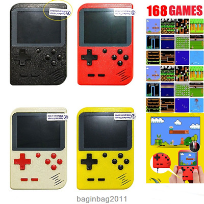 Retro Portable Handheld Game Console Built-in 168 games Coolbaby 8 Bit Players