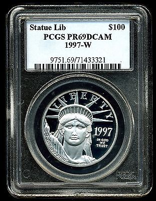 1997-W P$100 Proof Platinum American Eagle PR69 DCAM PCGS