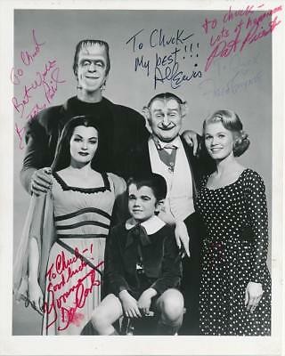 The Munsters- Glossy Cast Photograph Signed by all 5, Obtained by Al Lewis Himse