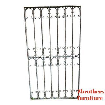 Antique Victorian Iron Gate Window Garden Fence Architectural Salvage Door #31