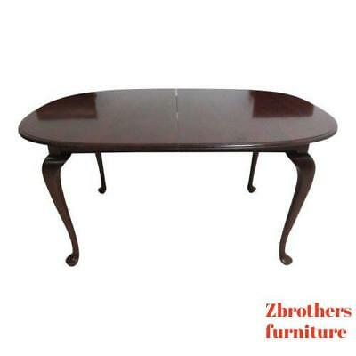Ethan Allen Georgian Court Queen Anne Dining Room Conference Banquet Table