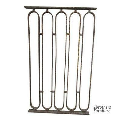 Antique Victorian Iron Gate Window Garden Fence Architectural Salvage Door #701