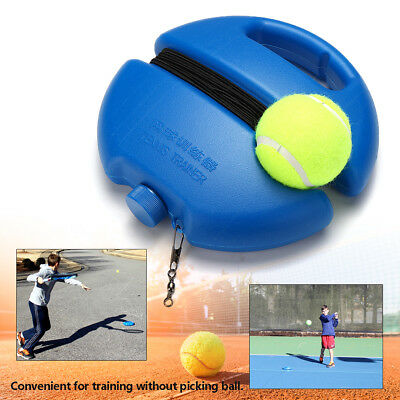 Singles Tennis Training Practice Ball Baseboard Base Trainer Tool +String Tennis
