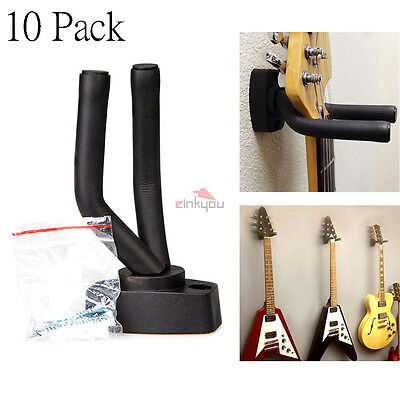 10pcs Wall-Mounted Hanger Hook Stand Holder for Guitar Violin Ukulele Bass