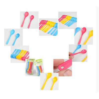 12Pcs Baby Feeding Spoons Safe Plastic Toddlers Training Eating Spoons Food Set&