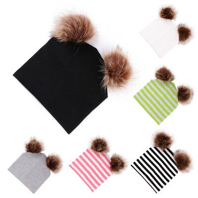 Toddler Infant Baby Boys Girls Venonat Knited Woolen Headgear Hat Thick Cap Nice