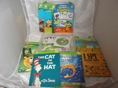 Leap Frog Tag Reading System Lot Carry Case 10 Books +Reader USB Cable CD Xtras