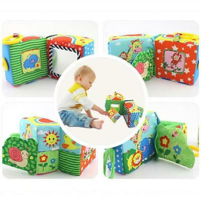 New Baby Rattle Educational Plush Toys Soft Building Blocks Cube Cloth