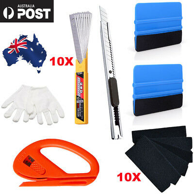 26X Car Wrap Vinyl Tools Kit 6 Film Wrapping Carbon Fibre Squeegee Safety Cutter