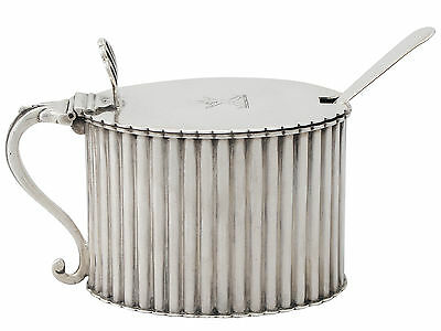 Sterling Silver Mustard Pot - Antique Victorian 156g