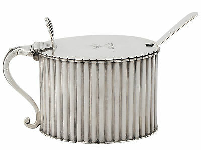 Antique, Sterling Silver Mustard Pot, Victorian 156g