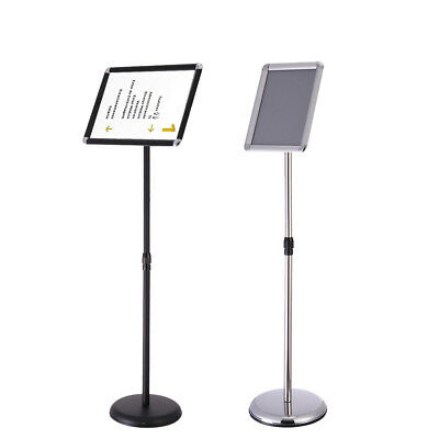 Pedestal Sign Holder Floor Stand Adjustable With Telescoping Post A3/A4