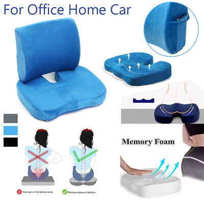 Memory Foam Lumbar Cushion Back Support Pillow Car Seat Pain Relief Chair Home