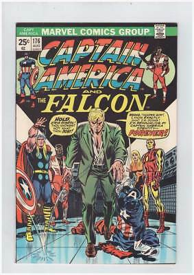 Captain America # 176  Cap Calls it Quits !  grade 8.5 scarce book !