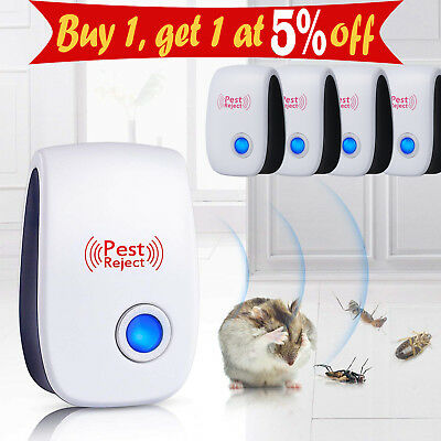 4X Ultrasonic Electronic Anti Mosquito Pest Insect Repellent Rat Repeller Reject