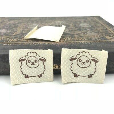 50pcs cloth Tag Sheep Printing Washable Clothing Labels Sewing Accessorie