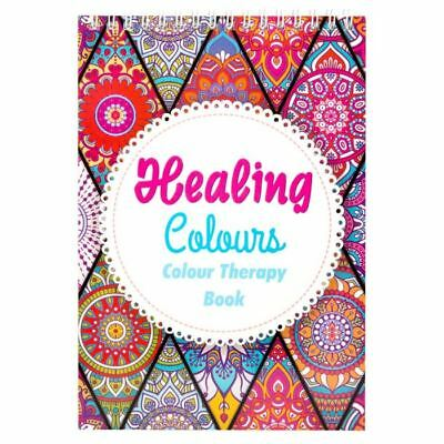 Adult Healing Relaxing Therapy Colouring Book Anti Stress Colour  - 40 Pages