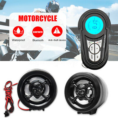 Waterproof Motorcycle Bluetooth Audio Radio MP3 USB Stereo Sound System Speakers