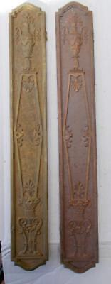 Pair of Stylish Antique French Bronze / Copper Door Finger Push Plates #C3