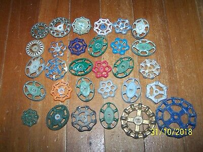 30 SALVAGED WATER VALVE FAUCET HANDLES  INDUSTRIAL STEAMPUNK Lot #3