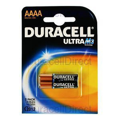 Duracell Ultra Power AAAA 2 Pack - Common Consumer / Industrial Battery (Compati