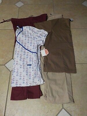NWT 2 women SCRUB lot Tops & Bottoms new SETS large